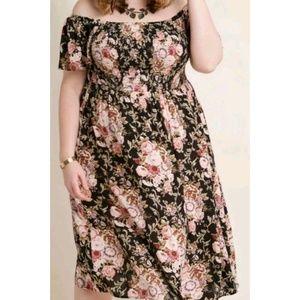 NEW! Modcloth Smocked Floral Dress